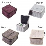 16 Bottle - Hemp Travel Essential Oil Carry Bag (4 Colors)