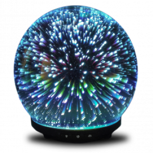 3D Gala - 230ML Ultrasonic Glass Diffuser with 3D LED Light Effect in many colors