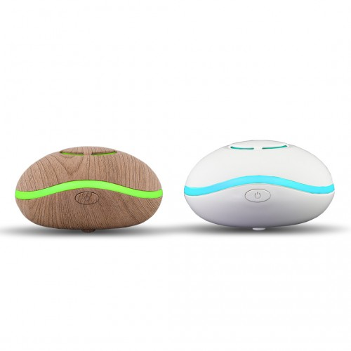 """Lily Fan Travel Aromatherapy Diffuser """"Wood"""" or """"White"""" - LED lights, USB Powered - SILENT"""
