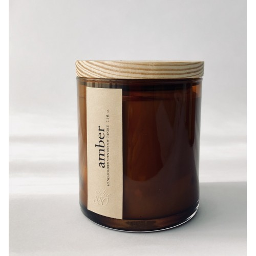 Amber Scented Luxury Soy Candle