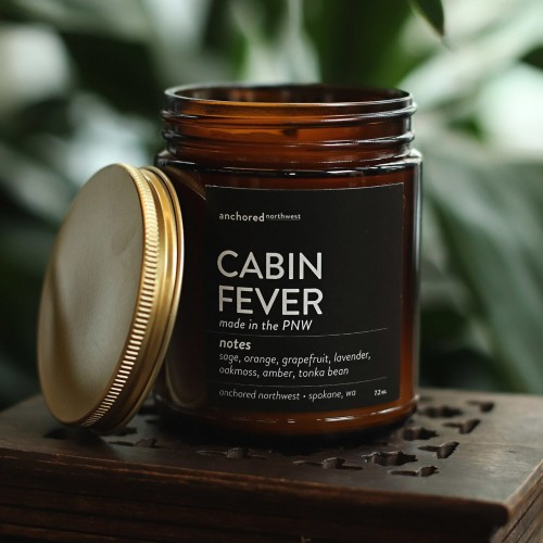 Cabin Fever - Amber Tumbler w/ Cotton Wick