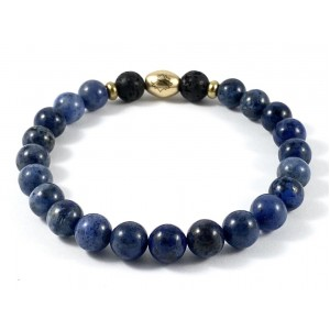 Men's Semi-Precious Diffuser Stretch Bracelet - 8mm Dumortierite