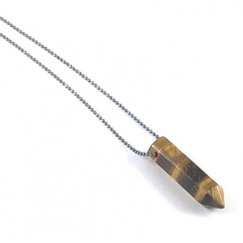 Point Diffuser Necklace - Small Tiger Eye