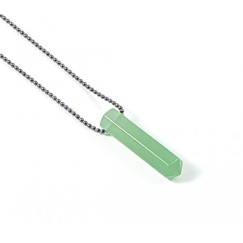 Point Diffuser Necklace - Tiny Green Aventurine