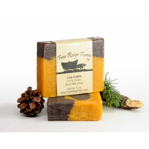 Log Cabin Fir & Cedar Goat Milk Soap
