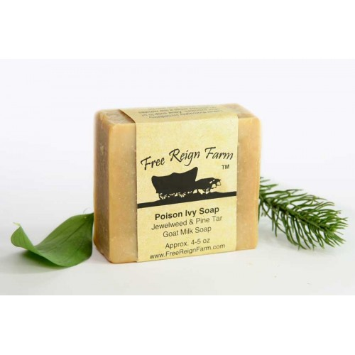 Poison Ivy Soap Jewelweed, Pine Tar & Tea Tree Goat Milk Soap